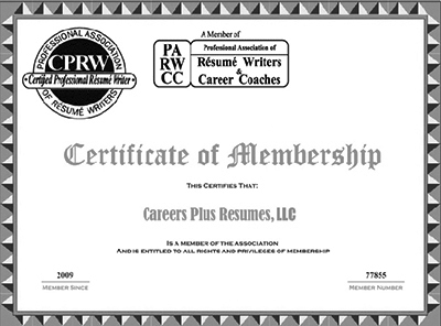 Professional Association Of Resume Writers  Careers Plus Resumes