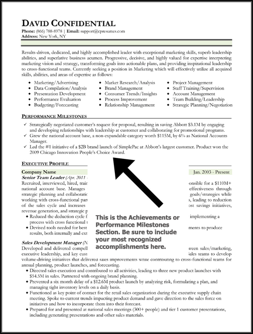 exle resume achievement statements resume exle